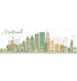 Abstract Montreal skyline with color buildings vector image vector image