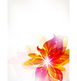 Abstract orange flowers background vector image