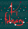 artistic signature on february 14 vector image