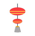 asian paper lantern or lamp icon vector image vector image