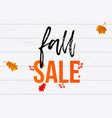 autumn fall sale shopping discount poster maple vector image vector image