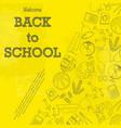 back to school yellow wallpaper vector image vector image