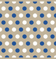 blue and white polka dots on gray background vector image vector image