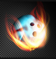 bowling ball realistic bowling ball in vector image vector image