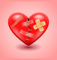 Broken heart background vector image