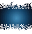 Christmas border snowflake design background vector image vector image
