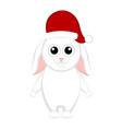 christmas rabbit cartoon character vector image
