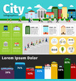 city infographics elements urban life and vector image vector image