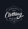 clothing hand written lettering label vintage vector image vector image