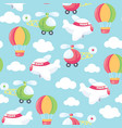 come fly with me seamless pattern background vector image vector image