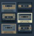 cool vintage audio cassettes vector image