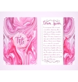 Cover template with marbling vector image vector image