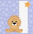 Cute template for postcard with lion vector | Price: 1 Credit (USD $1)