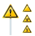 damage signs vector image vector image