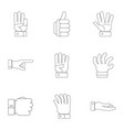 demonstration icons set outline style vector image