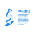 dollar sign icon isometric template vector image