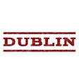 Dublin Watermark Stamp vector image vector image