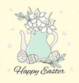 easter eggs great religious holy holiday cartoon vector image vector image