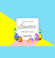 easter sale with easter eggs hunt banner for vector image