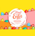 eggs yellow poster vector image