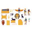 egypt hieroglyphs cartoon egyptian culture vector image