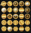 empty golden badge collection vector image vector image