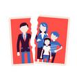 family breakup problem vector image
