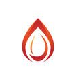 flame line fire element emblem symbol vector image vector image
