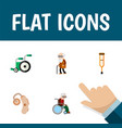 flat icon handicapped set of ancestor audiology