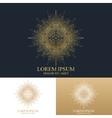 Geometric abstract round Logo Golden mandala with vector image