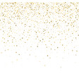 gold stars confetti celebration falling golden vector image vector image