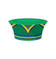 green zulu hat with bright ornament african vector image