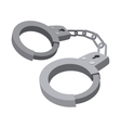 Handcuffs cartoon icon vector image vector image