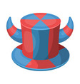 hat of a fan with hornsfans single icon in vector image