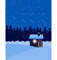house in winter snow vector image vector image