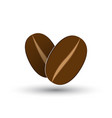 icon with coffee beans vector image vector image