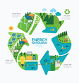 Infographic energy template design concept vector image vector image