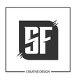 initial letter sf logo template design vector image