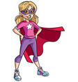 little super girl vector image vector image