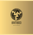 logo bamboo leaves spa salon vector image vector image