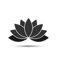 lotus - icon lotus black color with shadow vector image vector image