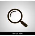 magnifying glass icon black isolated on a vector image