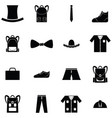 man clothing icon set vector image