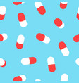 medicine pill pattern background for health vector image
