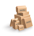 Moving Cardboard Box On White Background vector image vector image