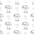 MushroomsPattern vector image vector image