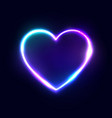 neon 80s style heart abstract background vector image vector image