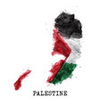 palestine flag watercolor painting design vector image vector image