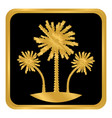 palm button on white vector image