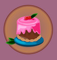 pastry desserts or bakery shop emblem vector image